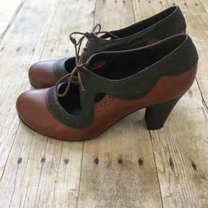 Miz Mooz Brown Leather Heels